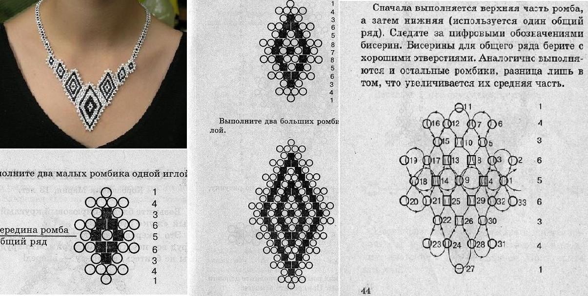 Бисерные изделия и схемы