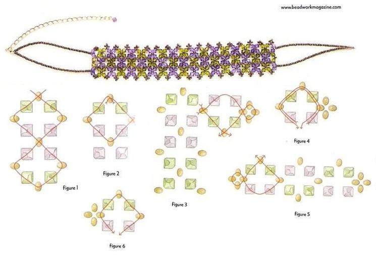 схема плетения из бусин салфетница