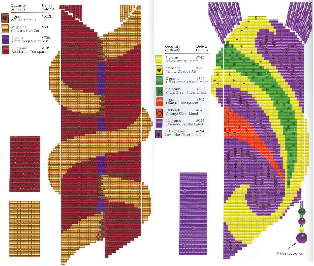 Гобеленовое плетение из бисера схема плетения6