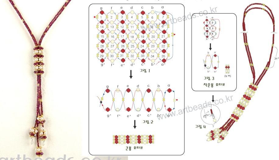 b Схема плетения галстука