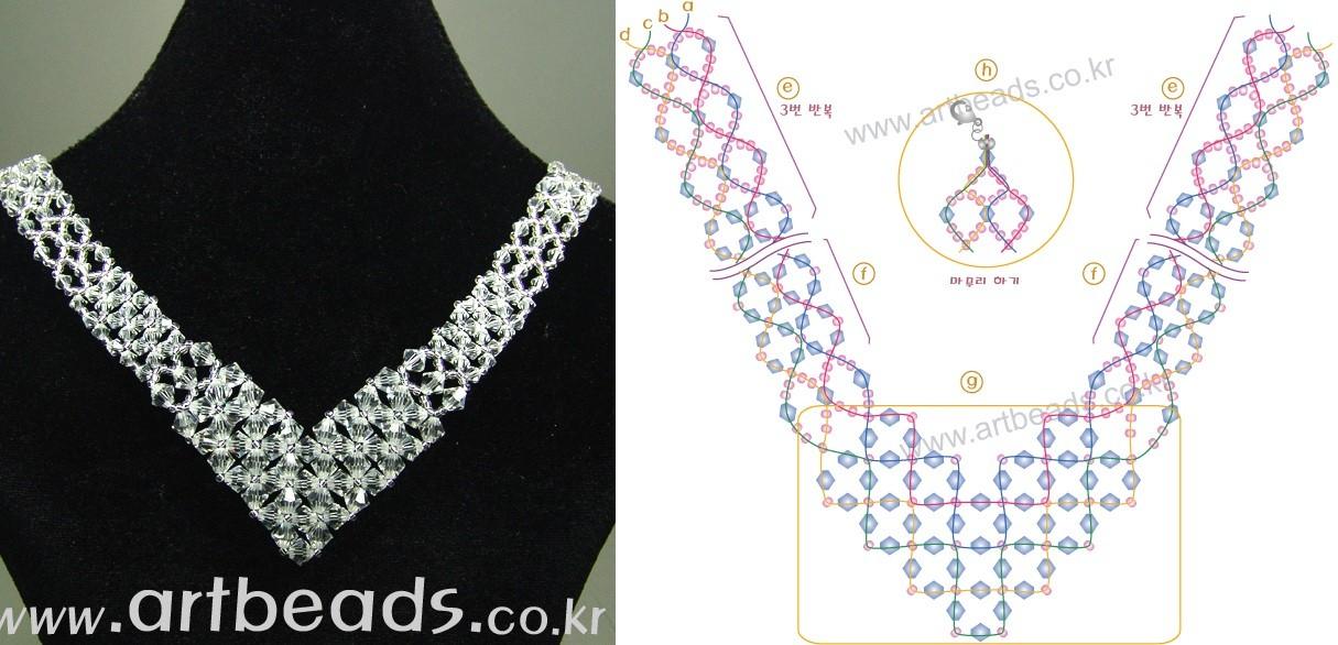 Схема плетения крестики из бисера - Делаем фенечки своими руками.