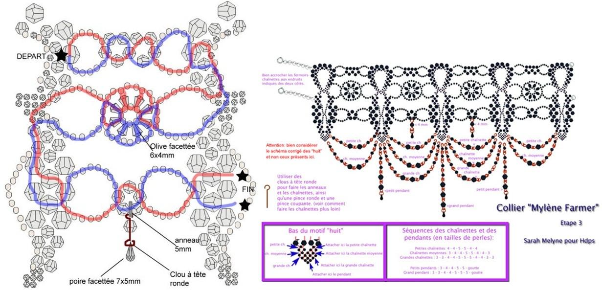 Бисероплетение колье и ожерелья схемы мастер класс