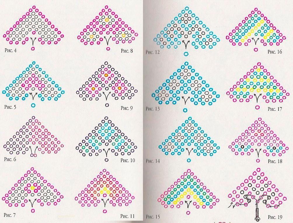 схемы плетение брелков