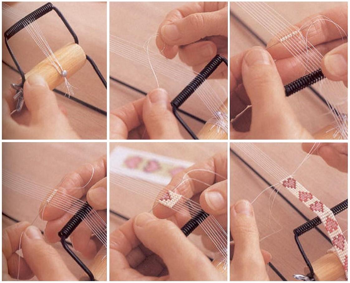 бисер схема плетения сердечек