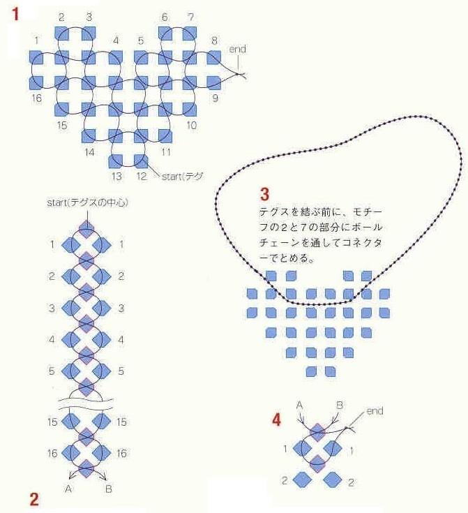 Схема поделок из бисера сердце