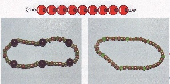 Схемы браслетов для начинающих