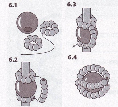 Цветок из бисера для начинающих схемы