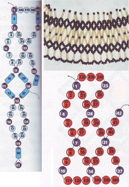 """Бисероплетение - Плетение украшений в технике  """"восьмёрка """" ."""