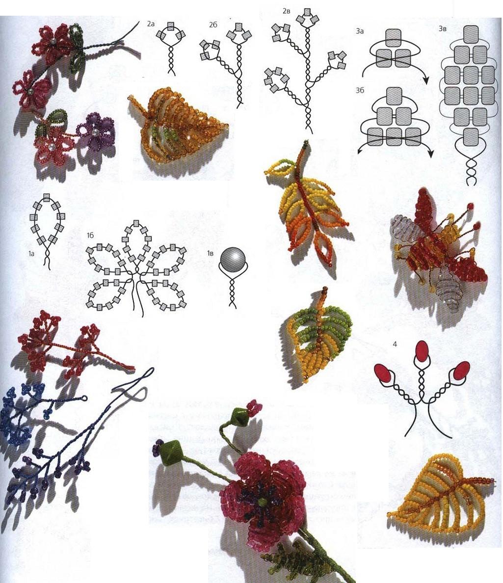Браслеты из бисера своими руками фото схемы