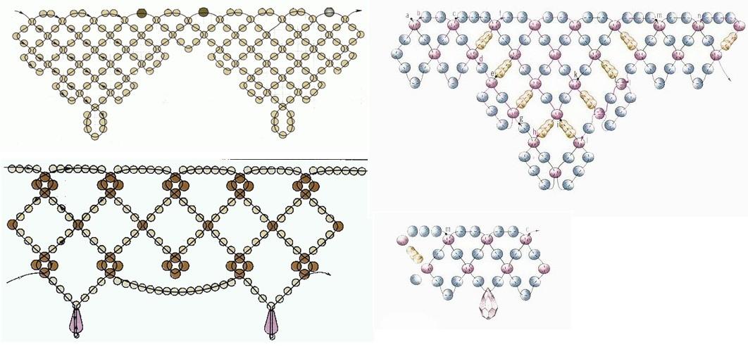 Схема плетения ажурных цепочек