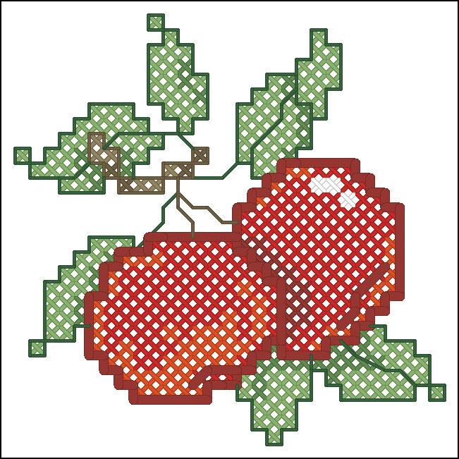 вышивка бисером вишня