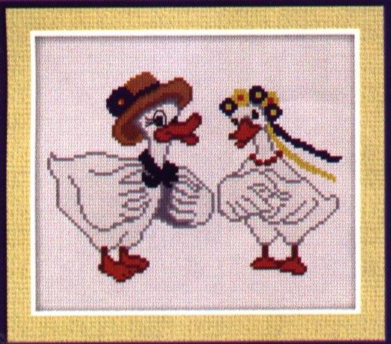 Вышивка крестиком гуси